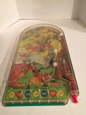 Vintage Wolverine Toy Little Hunter Pin Ball Toy Game