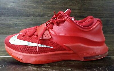online store d6765 f3c29 Nike KEVIN DURANT KD VII 7 GLOBAL GAME ACTION RED SILVER GREY 653996-660 Sz