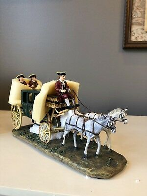 Retired 1997 Lang and Wise RANDOLPH CARRIAGE Holiday, Williamsburg Colonial