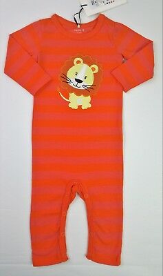 Baby Girls Clothes NAME IT Applique LION Organic Romper Playsuit 2-4 Months