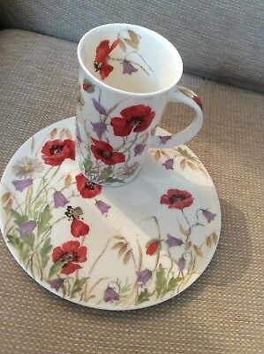 English Meadow Roy Kirkham Tenns Set Mug Plate  Poppies 2001