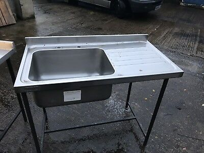 Commercial Single Sink Unit Stainless Steel
