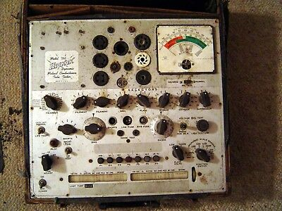 Hickok 750 Tube Tester Rough Cabinet For Parts Or Restore