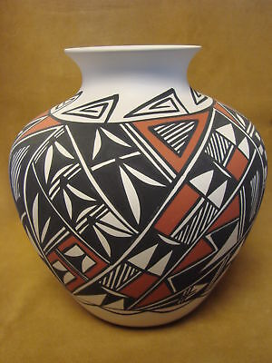 Acoma Indian Pottery Hand Painted Pot by Gloria Salvador PT0247