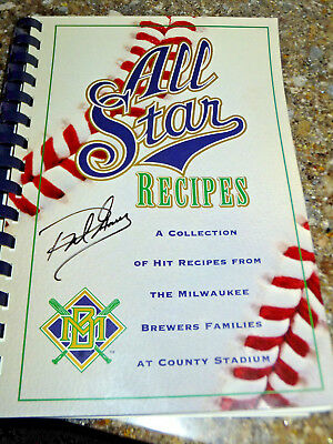1995 Milwaukee Brewers/Wives All Star Recipes Cookbook Signed