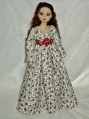 Casual Peasant Rose Print Dress Outfit for Ellowyne Wilde
