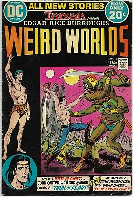 WEIRD WORLDS #1 - JOHN CARTER, WARLORD OF MARS DC Comics 1972 TARZAN