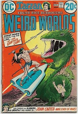 WEIRD WORLDS #2 - JOHN CARTER, WARLORD OF MARS DC Comics 1972 TARZAN