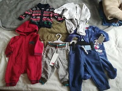 Baby boy winter mixed size 0-12 clothing bundle. NWT apart from socks.