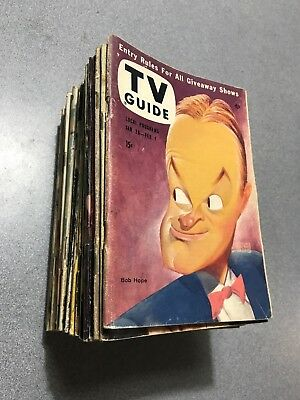 1957 TV GUIDE Sweet Lot of 24 Different ONLY 7 HAVE/HAD STICKERS Super Lot WOW!