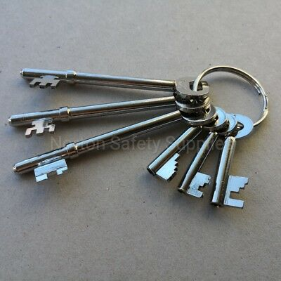 Fire Brigade Master Key Set - FB1, FB2, FB4, FB5, FB11, FB14 (6 Keys)