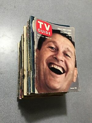 1958 TV GUIDE Sweet Lot of 33 Different ONLY 7 HAVE/HAD STICKERS Super Lot WOW!