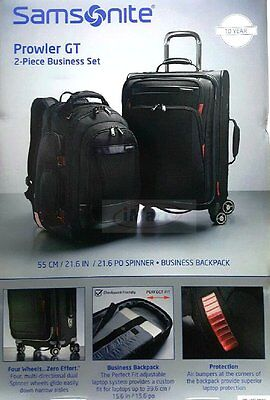 "Samsonite Prowler GT 2-PC Business Set 21"" Spinner Luggage & Backpack Bags NEW"