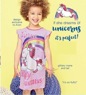 Despicable Me Fluffy Unicorn Nightdress Age 3-4  Exclusive to Avon