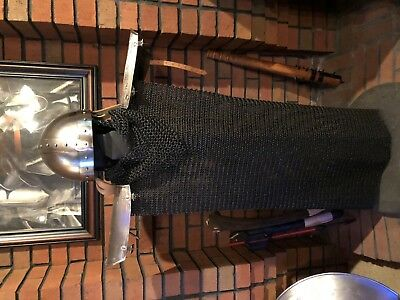 Set Of Armor Battle Ready Real Deal Armor Chain Mail Vest ,coif,helm, Vambraces