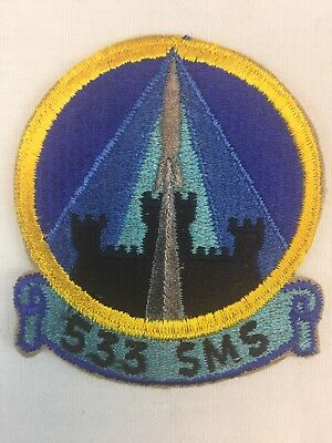 Usaf Patch 533 Sms United States  Air Force Vtg