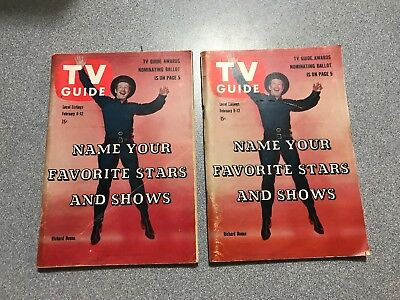 Lot of 2)Vintage 1960 TV GUIDE featuring PALADIN Richard Boone Feb 6-12, 1960