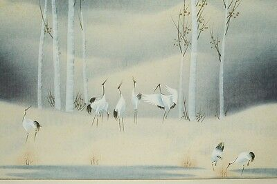 CHINESE PAINTING LANDSCAPE HANGING SCROLL Asian ART China Crane Antique 鶴 b328