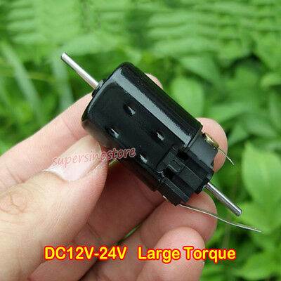 DC12V 3300rpm Dual Shaft NdFeB Strong Magnetic Large Torque 7-Pole Rotor Motor