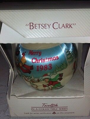 "HALLMARK ""BETSEY CLARK"" ORNAMENT 12th COLLECTIBLE SERIES MERRY CHRISTMAS 1983"