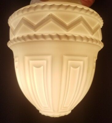 Vintage Antique Deco Milkglass Glass Shade  For A Ceiling Light Fixture