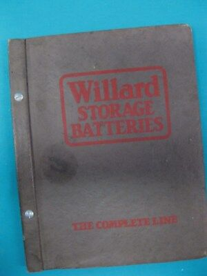Unusual DEALER CATALOG for WILLARD STORAGE BATTERY CO 1929