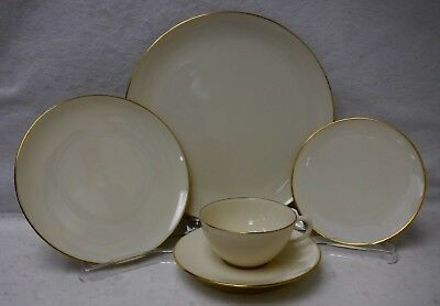 LENOX china OLYMPIA GOLD 5-piece Place Setting - cup saucer dinner salad bread