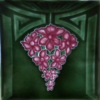 Art Nouveau / Arts & Crafts Ceramic Decorative Tile by Porteous 6x6