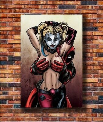 Art Deadpool and Harley Quinn Superheroes Comic Movie 36in Poster Hot Gift C705
