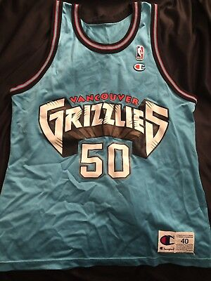 RARE VINTAGE BRYANT Reeves  50 VANCOUVER GRIZZLIES Champion Jersey ... 3a4c87f76