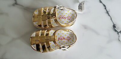 Seed Gold Baby Girl Sandals BNWT 6-12mths RRP $24 95