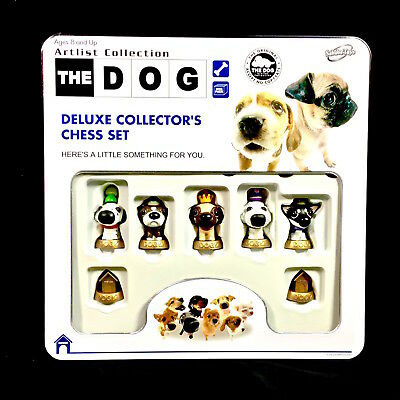 THE DOG DELUXE COLLECTOR'S CHESS SET ~ Artist Collection ~ Sababa Toys ~ Mint