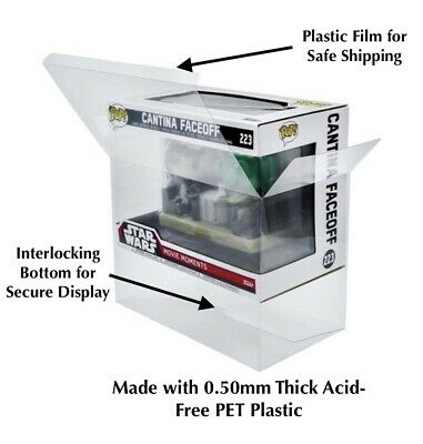FUNKO POP! Movie Moments Box PROTECTOR 0.50mm Super Thick Plastic Please Read