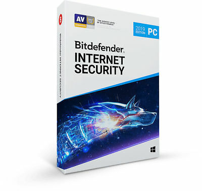 Lizenz für 180 Tage / 6 Monate Bitdefender Internet Security 2019, 2020, 1 PC