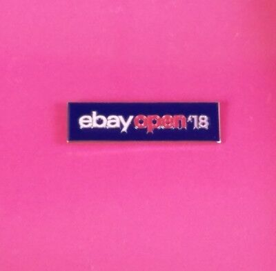 eBay OPEN 18 Conference Collectible Pin eBayana Exclusive Blue
