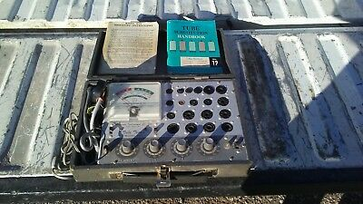 ACCURATE INSTRUMENTS MODEL 257 TUBE TESTER IN ORIGINAL CASE with Manual!!!!!