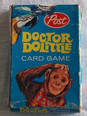 Rare Vintage POST cereal Doctor Doolittle Playing Cards - Complete set