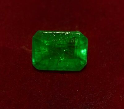 5.05 Cts Natural Green Emerald, GGL Certified Emerald Shape Zambian Gem