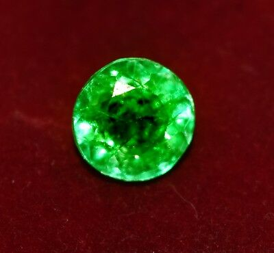5.05 CT GGL Certified Natural Green Emerald Round Shape Zambian Gem