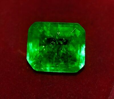 Natural Green Emerald, 8.25 CT GGL Certified Emerald Shape Zambian Gem