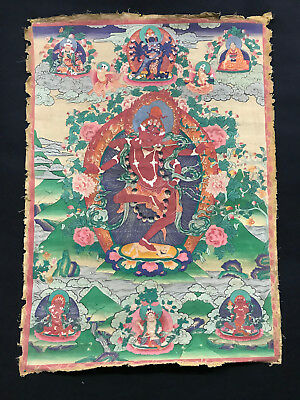 Tibet Old Thangka Painting Kurukulle