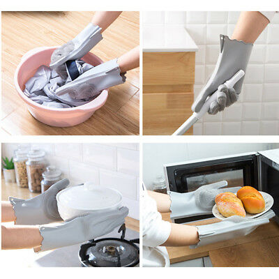 Soft Magic Silicone Gloves Reusable Easy Clean Smile Gloves Wash Scrubber -AO92