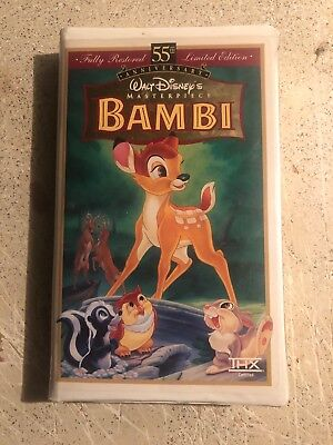 Bambi (VHS, 9505) **VERY RARE** 55th Anniversary Limited Edition