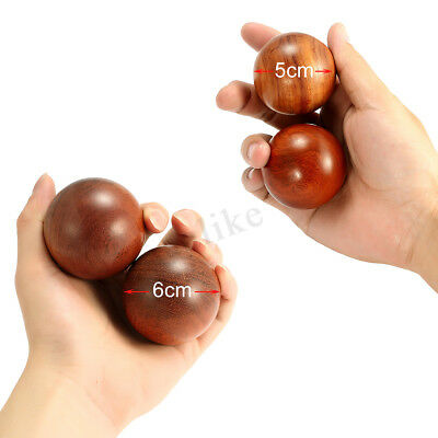 50/60mm Chinese Health Exercise Stress Wood Baoding Balls Set Relaxation Therapy