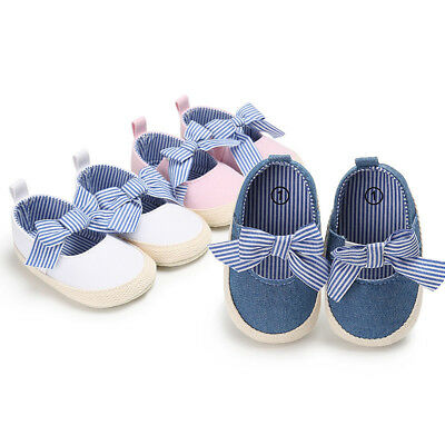 Baby Girl Princess Shoes Toddler Shoes Canvas Striped Anti-Slip Shoes 3 Colors