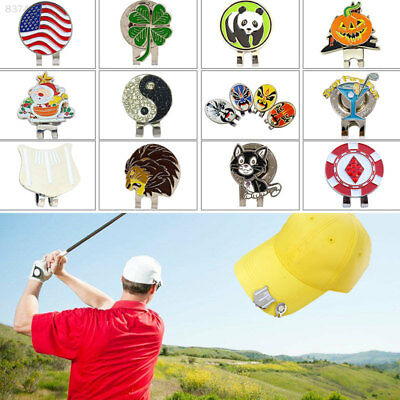 C8CD Golf Cap Clip Alloy with Magnetic Golf Ball Marker Golf Hat Clip Clamp Pop