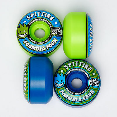 City Beach Spitfire F4 Classic Mash 52mm Skateboard Wheel Pack