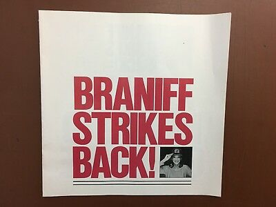 1980's Braniff Airways Airlines Brochure  Complete Company Revamp