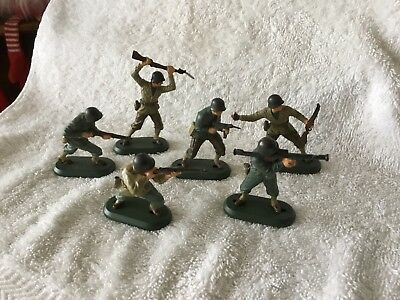 BRITAINS DETAIL SERIES AMERICAN INFANTRY( SIX) 1:32 Scale WWII FIGURES