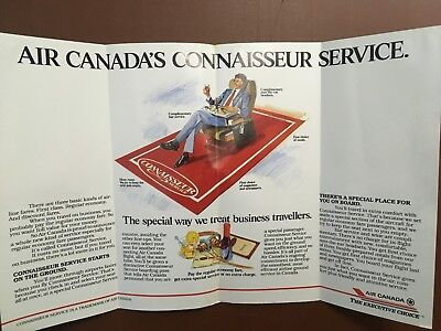 1980's Air Canada  Airways Airlines Brochure  Introducing Connoisseur Service